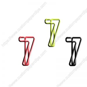 number 7 shaped paper clips