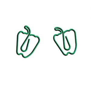 pepper shaped paper clips, vegetable paper clips