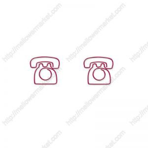 telephone phone shaped paper clips