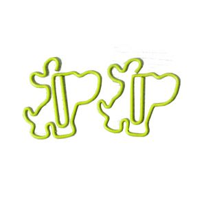 animal shaped paper clips in the wire outline of puppy or dog