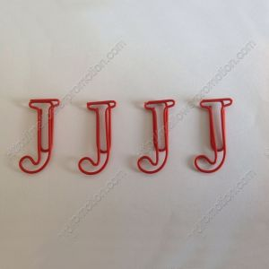 Letter J Paper Clips,Creative Gifts (1 dozen/lot,19*33 mm)