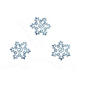 snowflake shaped paper clips in colored wire