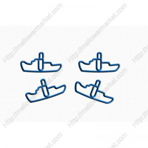 vehicle shaped paper clips in steamship outline