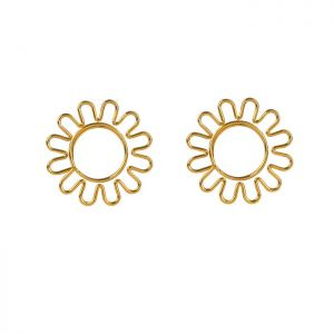 shaped paper clips in sunflower outline, holiday gifts, decor accessories