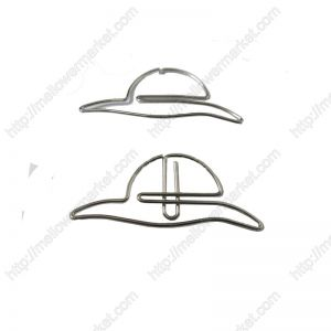 shaped paper clips, sunhat paper clips