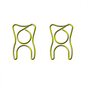 shaped paper clips in yellow tooth outline, business gifts, cute stationery