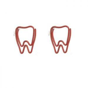 tooth shaped paper clips in red, promotional gifts