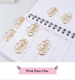 Week Paper Clips | Letter Paper Clips | Creative Stationery (250 dozen/shape)