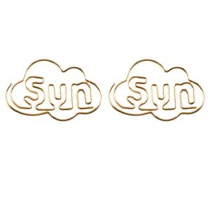 shaped paper clips in weekday abbreviations, Sun paper clips, Sunday paper clips