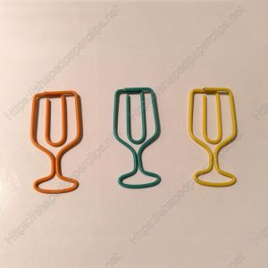 wire cup shaped paper clips, goblet paper clips
