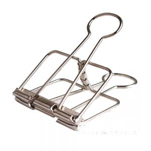 hollowed-out metal binder clips, office binder clips