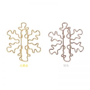 wire shaped paper clips in snowflake outline, decorative accessories
