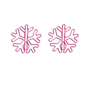 shaped paper clips in snowflake outline, decorative accessories