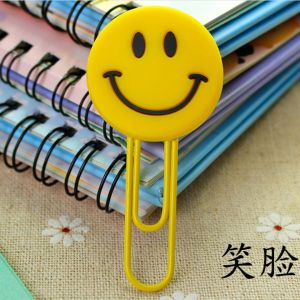 soft PVC silicone paper clips bookmarks