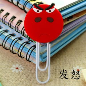 soft PVC silicone paper clips bookmarks in anger image
