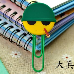 soft PVC silicone paper clips bookmarks in soldier image