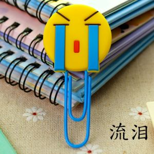 soft PVC silicone paper clips bookmarks in tearing image, soft rubber paper clips