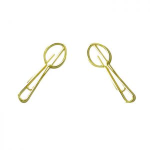 wire shaped paper clips in spoon outline, business gifts