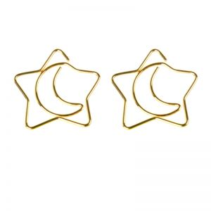 shaped paper clips in moon&star outline, cute stationery