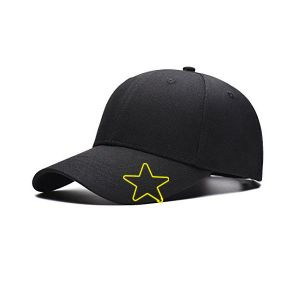wire shaped hat clips in star outline, star cap clips, star brim clips