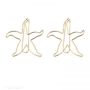 shaped paper clips in starfish outline, fish shaped paper clips