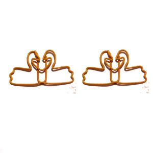 animal shaped paper clips, swan shaped paper clips