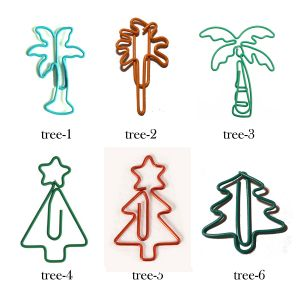 tree-theme paper clips in different shapes and outlines