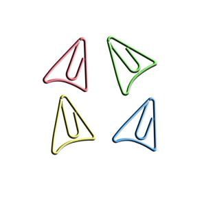 shaped paper clips in triangle Doritos outline, promotional gifts