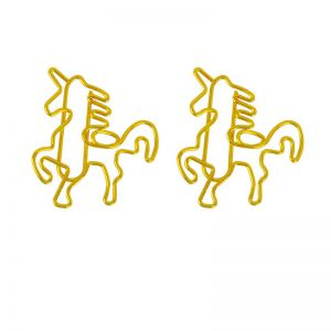animal shaped paper clips in unicorn outline, unicorn shaped paper clips