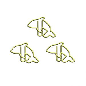 fish shaped paper clips in whale outline