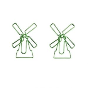 shaped paper clips in windturbine outline, business gifts