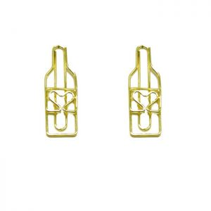 shaped paper clips in wine bottle outline, advertising gifts