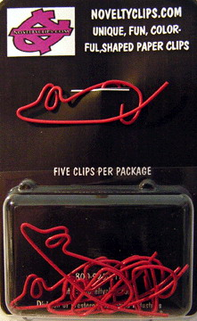 blister card for packing shaped paper clips