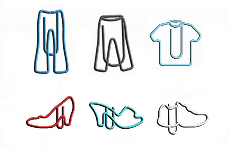 clothes shaped paper clips