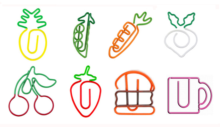 drink food shaped paper clips
