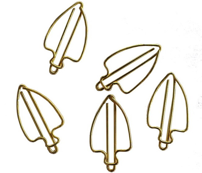 electroplated gold for shaped paper clips