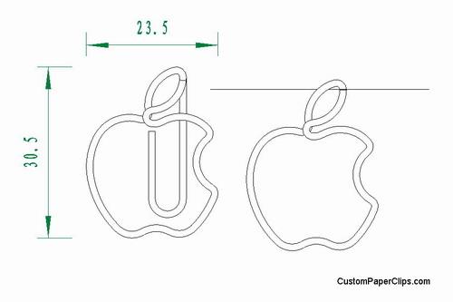 mock up of logo paper clips