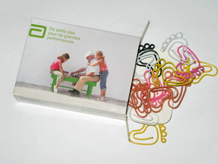 paper box for shaped paper clips