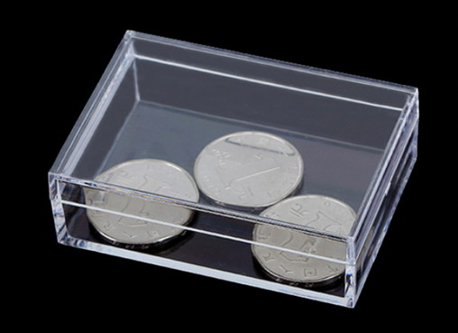 plastic crystal box for shaped paper clips