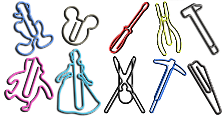 custom paper clips, shaped paper clips