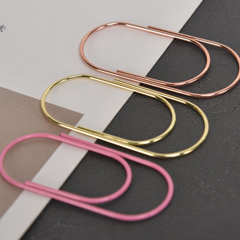 gold paper clips in fatty shape